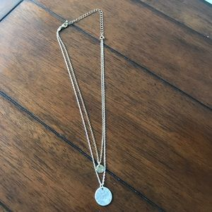 Multilayer gold and silver necklace